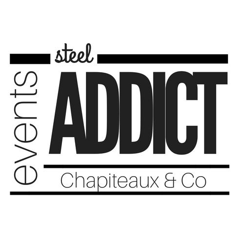 Logo de la société STEEL ADDICT spécialisé dans la location de tente de réception au design élégant